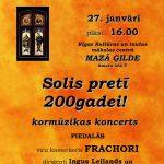 """Kormūzikas koncerts """"Solis pretī 200gadei!"""""""
