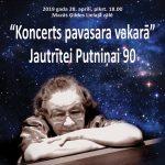 """""""Koncerts pavasara vakarā"""" Jautrītei Putniņai 90"""